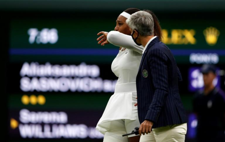 Serena Williams will not wish her tearful farewell to the Wimbledon Centre Court crowd after injuring herself in the first round will be her last there