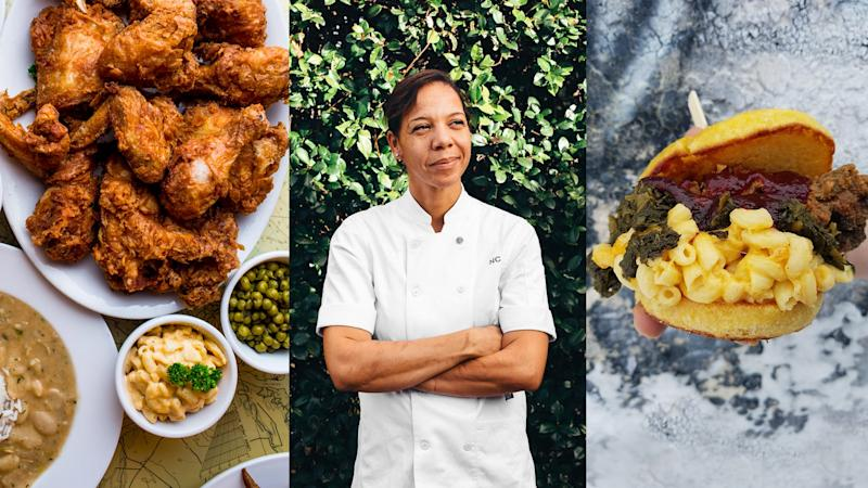 From left to right: Lil' Dizzy's Cafe in New Orleans, Nina Compton of Bywater American Bistro in New Orleans, Soul Bowl pop-up at Breaking Bread in Minneapolis.
