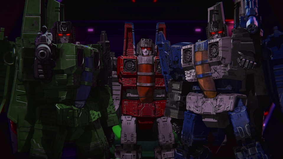 Starscream (Frank Todaro) and his Seekers in  Transformers: War for Cybertron Chapter 2: Earthrise. (PHOTO: Netflix)