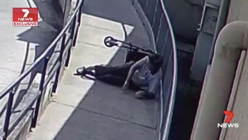 Ray fell onto concrete and was unable to get up. Source: 7 News
