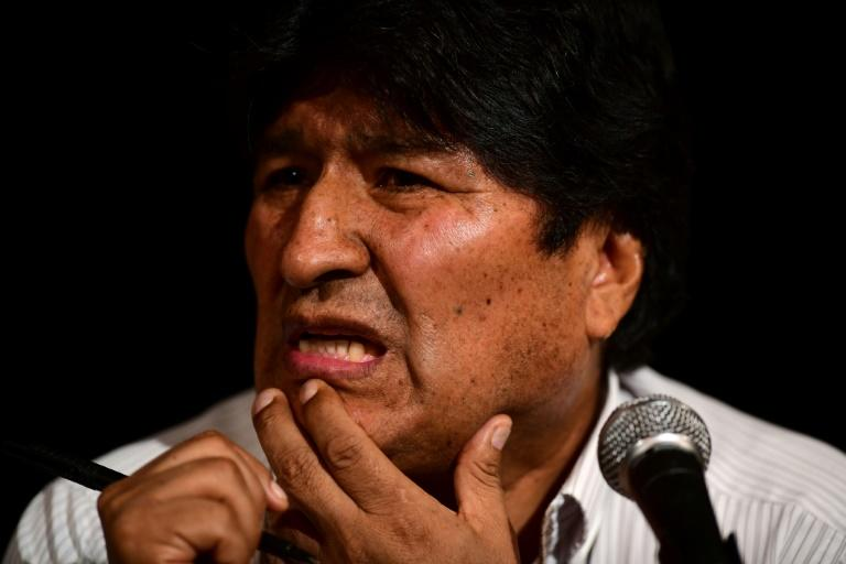 Bolivia's ex-president Evo Morales says he won't stand in any elections next year but is convinced his MAS party will win nonetheless (AFP Photo/RONALDO SCHEMIDT)