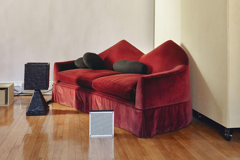 Twin Peak sofa, 000 sconce, and Grotesque table lamp.