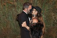 <p>matched in Ralph Lauren and smooched through their face masks during their Met Ball debut. </p>