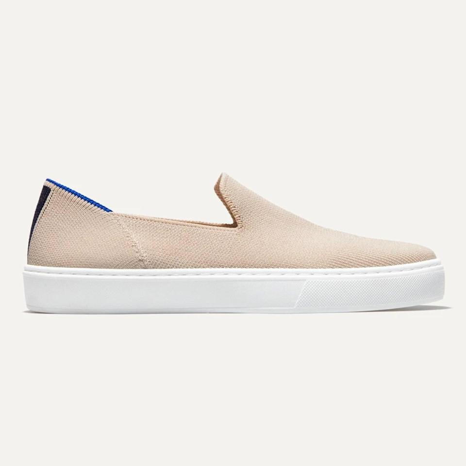 """Rothy's soft fabric makes it a flexible shoe that is especially comfortable. I like the round toe box of this style since allows space for the toes—as opposed to other styles that are narrower and cause the toes to cram excessively. <em>—</em><a href=""""https://www.drmalekpt.com/"""" rel=""""nofollow noopener"""" target=""""_blank"""" data-ylk=""""slk:Leada Malek"""" class=""""link rapid-noclick-resp""""><em>Leada Malek</em></a><em>, PT, DPT, CSCS, and SCS</em> $125, Rothy's. <a href=""""https://rothys.com/products/the-sneaker-sand"""" rel=""""nofollow noopener"""" target=""""_blank"""" data-ylk=""""slk:Get it now!"""" class=""""link rapid-noclick-resp"""">Get it now!</a>"""