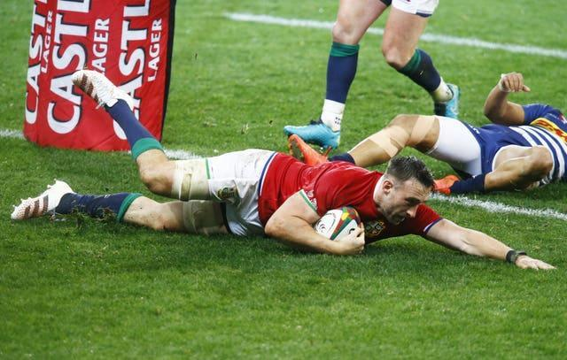 Jack Conan scores a try for the Lions