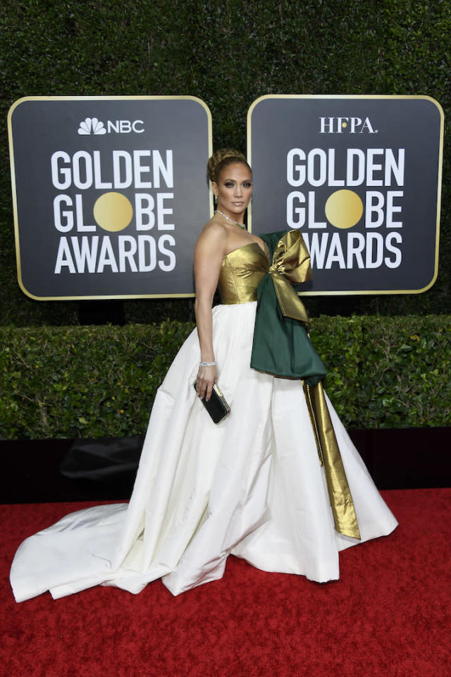 Jennifer Lopez chose a Pierpaolo Piccioli for Maison Valentino gown [Photo: Getty]