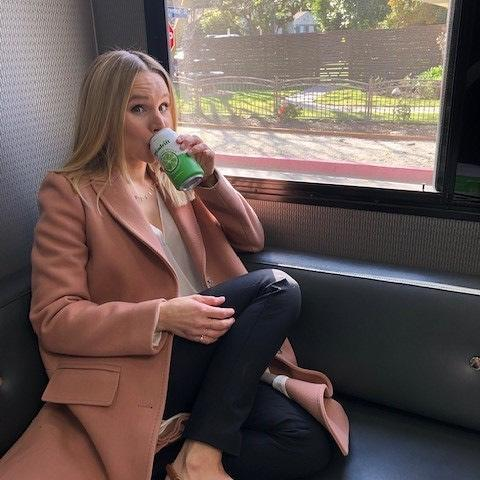 """<p>'I maybe have one drink a year solely because I think I might be allergic to alcohol,' Kristen told <a href=""""https://www.womenshealthmag.com/health/a29356704/kristen-bell-alcohol-allergy/"""" rel=""""nofollow noopener"""" target=""""_blank"""" data-ylk=""""slk:WH"""" class=""""link rapid-noclick-resp"""">WH</a>. 'When I do have a drink, I experience the flu the next day. This isn't normal. No one should have this much of a hangover over a glass of wine.'</p><p><a href=""""https://www.instagram.com/p/BuJ5-wKjuNK/"""" rel=""""nofollow noopener"""" target=""""_blank"""" data-ylk=""""slk:See the original post on Instagram"""" class=""""link rapid-noclick-resp"""">See the original post on Instagram</a></p>"""