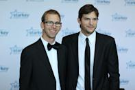 "Ashton Kutcher and brother Michael Kutcher have remained close even into adulthood. ""I consider him my best friend,"" Michael <a href=""https://www.twincities.com/2012/02/02/michael-kutcher-talks-about-twin-brother-ashton-life-with-cerebral-palsy/"" rel=""nofollow noopener"" target=""_blank"" data-ylk=""slk:told"" class=""link rapid-noclick-resp"">told</a> a group of high school students back in February 2012. Michael was diagnosed with cerebral palsy as a child and required a heart transplant as a teenager. He now works as a motivational speaker."