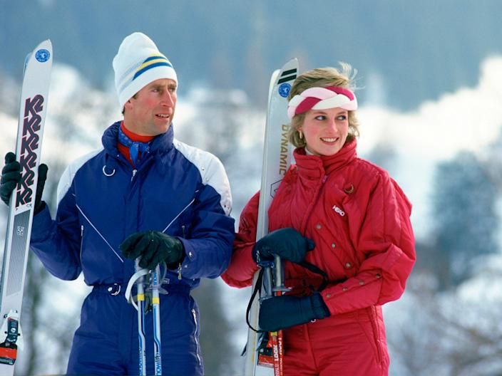 Prince Charles and Princes Diana in Klosters, Switzerland - February 1986