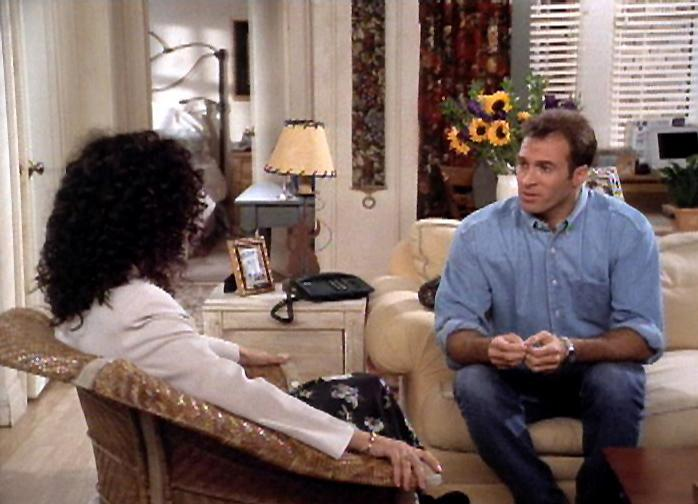 """""""The Sponge"""" - As Jerry conceals how he got an unlisted phone number, Elaine's favorite birth control device is discontinued."""
