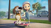 """<p><strong>Hulu's Description:</strong> """"The lovable Ozzy's pampered life is thrown into turmoil after his family drops him at Blue Creek before their vacation. Ozzy quickly learns that Blue Creek is a dog prison and he'll need to rely on some new friends to help him break out and get back home.""""</p> <p><span>Stream <strong>Ozzy</strong> on Hulu!</span></p>"""
