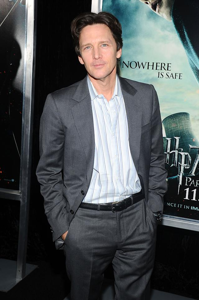 """<a href=""""http://movies.yahoo.com/movie/contributor/1800022461"""">Andrew McCarthy</a> attends the New York premiere of <a href=""""http://movies.yahoo.com/movie/1810004780/info"""">Harry Potter and the Deathly Hallows - Part 1</a> on November 15, 2010."""