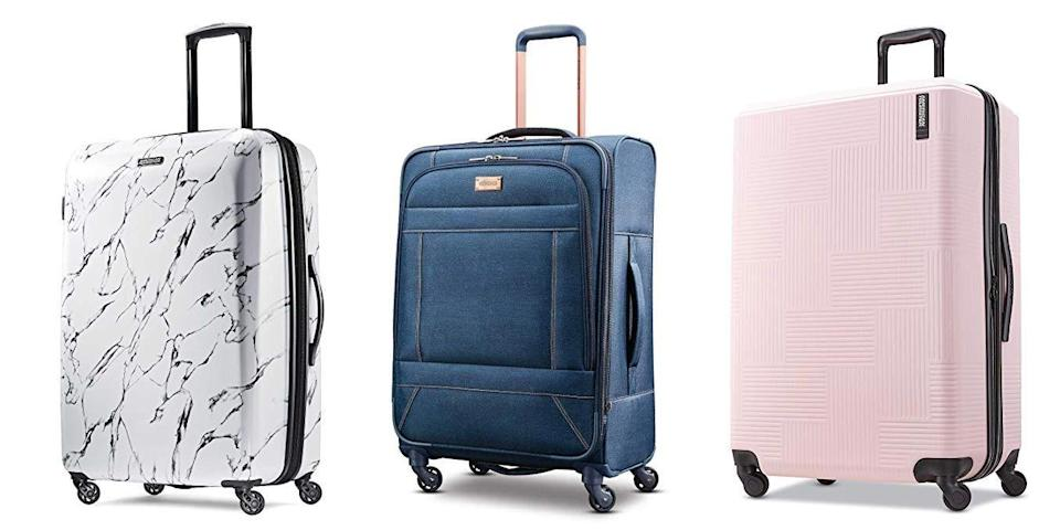 "<p class=""body-tip""><a class=""link rapid-noclick-resp"" href=""https://www.amazon.com/Luggage-American-Tourister-Travel-Gear/s?rh=n%3A15743251%2Cp_89%3AAmerican+Tourister&tag=syn-yahoo-20&ascsubtag=%5Bartid%7C10055.g.26898407%5Bsrc%7Cyahoo-us"" rel=""nofollow noopener"" target=""_blank"" data-ylk=""slk:SHOP NOW"">SHOP NOW</a> </p><p>If you don't use luggage regularly — i.e. it doesn't need to be the <em>most</em> durable and you don't need all the bells and whistles —<strong>American Tourister offers good value and lots of options to choose from</strong>. There are lots of options if you prefer bright colors and fun pritns, plus there are cases for the entire family, including kids.<br></p>"