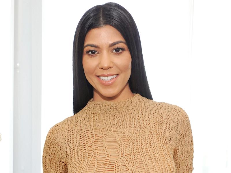 Kourtney Kardashian Wears Barely-There Thong Bikini While Eating Chips and Guac in Mexico