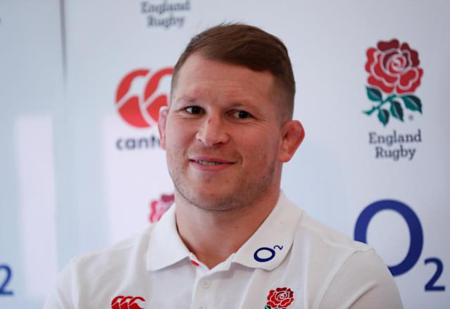 Rugby Union - England Press Conference - Pennyhill Park, Bagshot, Britain - February 22, 2018 England's Dylan Hartley during the press conference Action Images via Reuters/Andrew Boyers