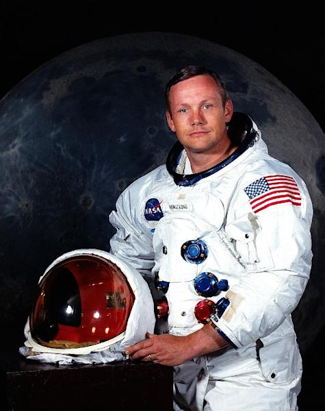 """FILE - This undated file photo provided by NASA shows astronaut Neil Armstrong. The family of Neil Armstrong, the first man to walk on the moon, says he has died Saturday, Aug. 25, 2012, at age 82. Armstrong commanded the Apollo 11 spacecraft that landed on the moon July 20, 1969. He radioed back to Earth the historic news of """"one giant leap for mankind."""" (AP Photo/NASA, File)"""
