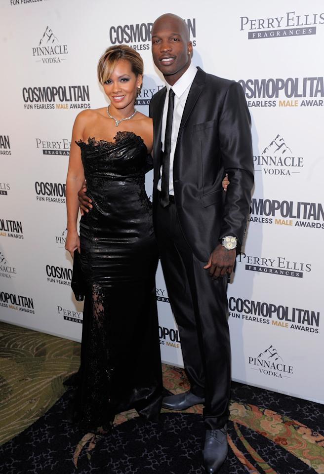NEW YORK, NY - MARCH 07:  Evelyn Lozada and athlete Chad Ochocinco attend Cosmopolitan Magazine's Fun Fearless Males Of 2011 at The Mandarin Oriental Hotel on March 7, 2011 in New York City.  (Photo by Jemal Countess/Getty Images) *** Local Caption *** Chad Ochocinco;Evelyn Lozada