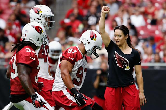 Welter became the first female NFL coach when she joined the Arizona Cardinals in 2015 as a training camp and preseason coaching intern. She also became the first woman to play men's professional football when she entered a game at running back for the Indoor Football League's Texas Revolution. Her internship led the way for Tampa Bay Buccaneers coaches Lori Locust and Maral Javadifar, whose full-time positions make them the first two female coaches on an NFL team.