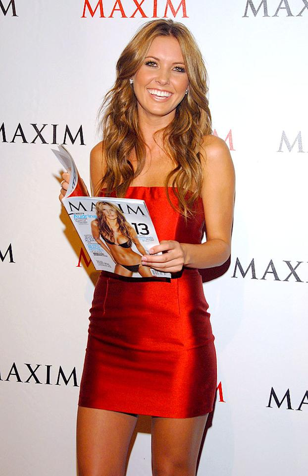 """The combination of lighter locks, a bright red mini, and too much tan pushed former """"Hills"""" star Audrina Patridge dangerously close to being all one color, which isn't a good look for anyone. Mark Sullivan/<a href=""""http://www.wireimage.com"""" target=""""new"""">WireImage.com</a> - September 24, 2009"""