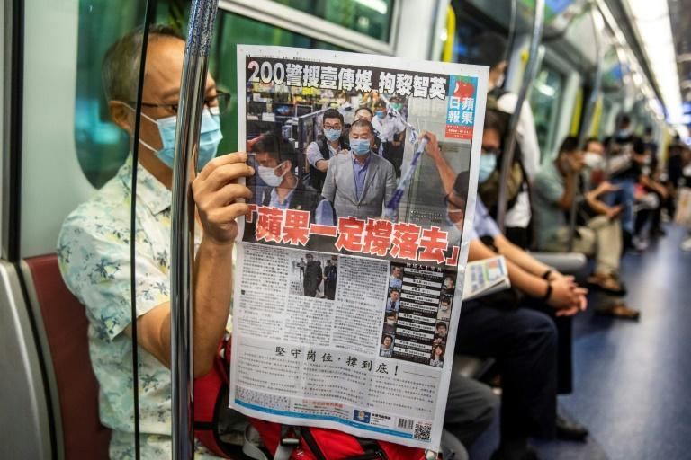 The Hong Kong government froze the assets of pro-democracy paper Apple Daily last week a powerful national security law