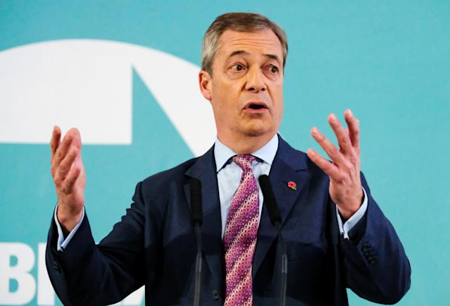 Brexit Party leader Nigel Farage said his party will not do battle in Conservative seats (Picture: Getty)