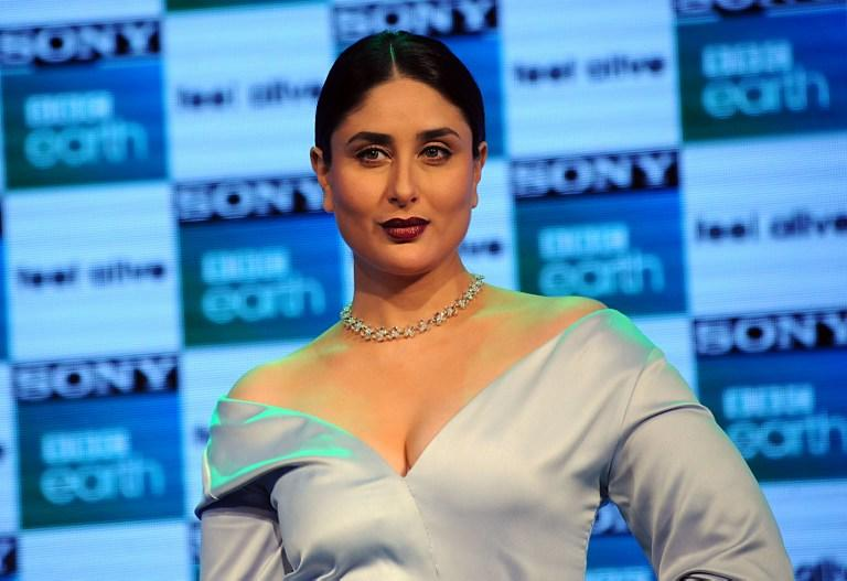 <p>Indian Bollywood actress Kareena Kapoor Khan poses during a promotional event for entertainment channel Sony BBC Earth, in Mumbai on March 1, 2017.<br /><br /></p>