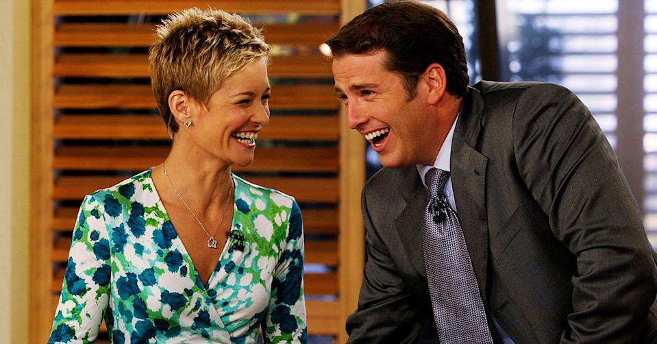 Karl Stefanovic and former co-host Jessica Rowe