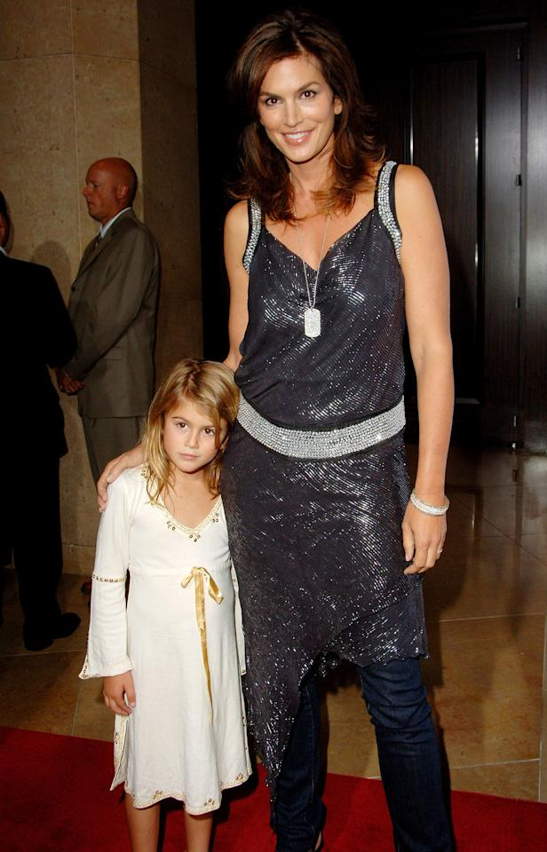 Red carpet cutie! Kaia (a then-blonde!) looked adorable posing with mom at 5 years old.