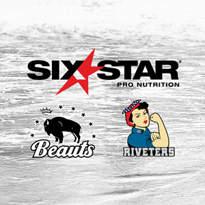 Six Star Pro Nutrition will be the Official Protein & Pre-Workout Supplement for the NWHL's Buffalo Beauts and Metropolitan Riveters during the 2021 season.