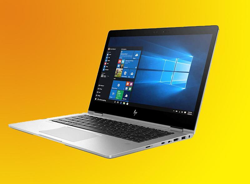 This ultra-thin laptop converts into a tablet. (Photo: Amazon)