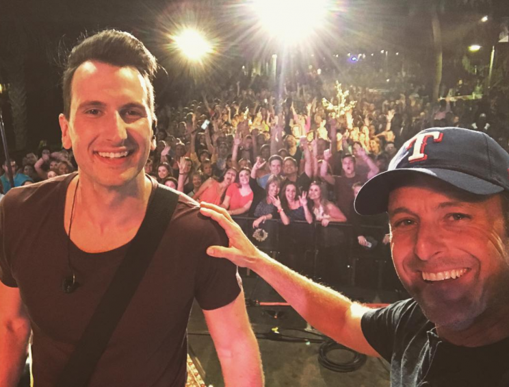 Russell Dickerson and Chris Harrison (Photo: Instagram)