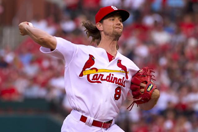 St. Louis starter Mike Leake's 2.03 ERA is second in the National League. (Getty Images)