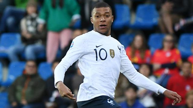 Kylian Mbappe was not in the mood to talk about Real Madrid following France's Euro 2020 qualifying win.