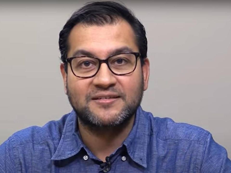 Dr. Sudit Ranade, the medical officer of health for Lambton County, is shown in a image captured from a Lambton Public Health video. (Lambton Public Health - image credit)