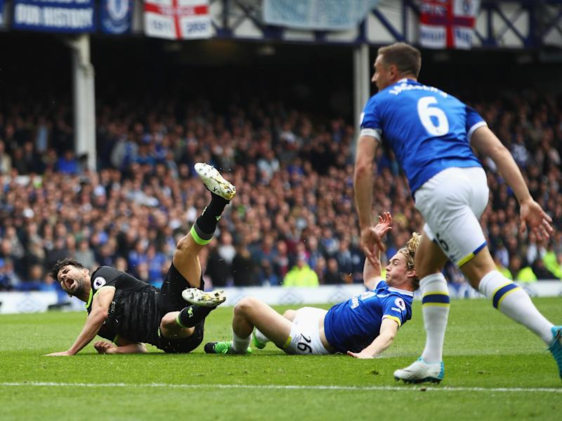 Everton and Chelsea in action at Goodison Park: Getty