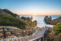 <p>The coastline of the south-western region of Portugal will present you with stunning views like this, and not just during sunset.</p>
