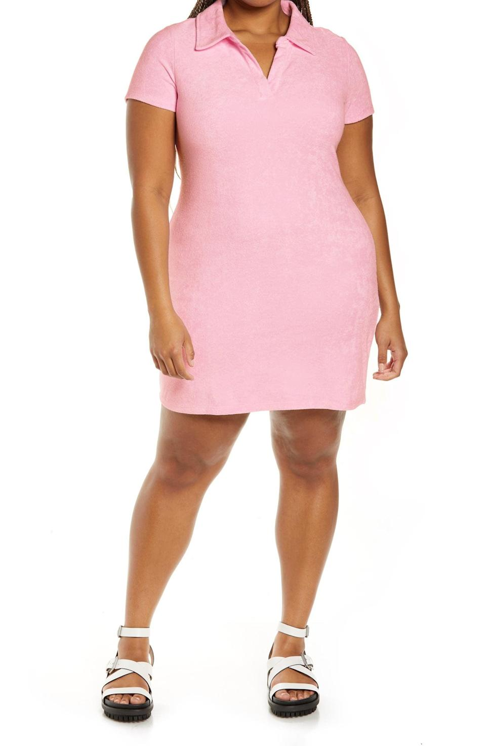 <p>This <span>BP. Polo Terry Cloth Minidress</span> ($39) will keep you looking sporty and cool. Wear it with platform sandals to make it even more comfortable, or low sneakers for a casual look.</p>