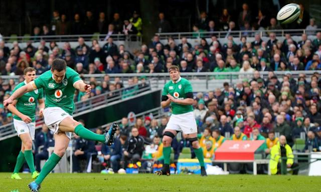 """<span class=""""element-image__caption"""">Johnny Sexton is still a key player for Ireland and Joe Schmidt's side missed him badly in Scotland.</span> <span class=""""element-image__credit"""">Photograph: Crombie/INPHO/Rex/Shutterstock</span>"""