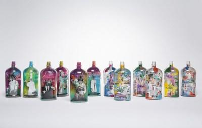 Limited-Edition Bulleit Art in a Bottle Collection - a collaboration between Bulleit, artists Jason Skeldon and Elidea - at Miami Art Week, Available for Purchase Today.