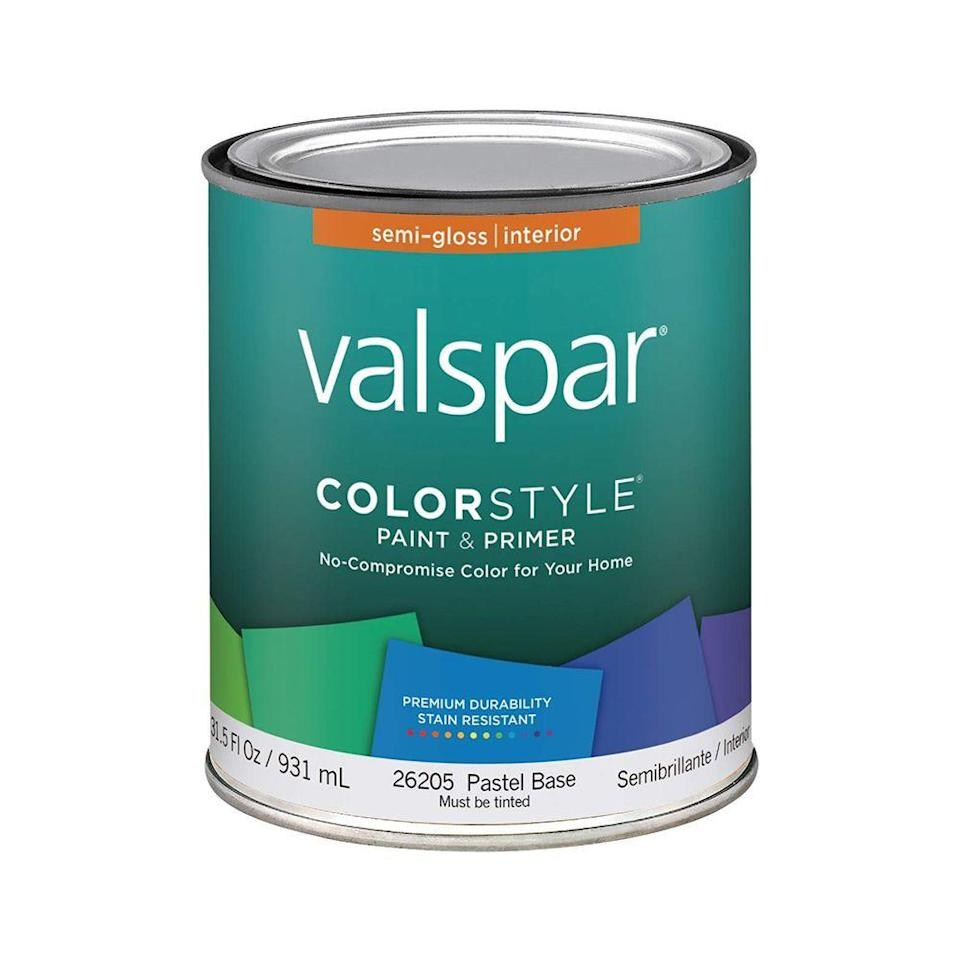 """<p><strong>Valspar</strong></p><p>amazon.com</p><p><strong>$25.88</strong></p><p><a href=""""https://www.amazon.com/dp/B004S5SMQ2?tag=syn-yahoo-20&ascsubtag=%5Bartid%7C10060.g.35049077%5Bsrc%7Cyahoo-us"""" rel=""""nofollow noopener"""" target=""""_blank"""" data-ylk=""""slk:Shop Now"""" class=""""link rapid-noclick-resp"""">Shop Now</a></p><p>If you just worked on a major paint project at home, yet you're not sure what to do with all of the extra paint, peek around your home for older pieces of accent furniture that could use a fresh coat. </p>"""