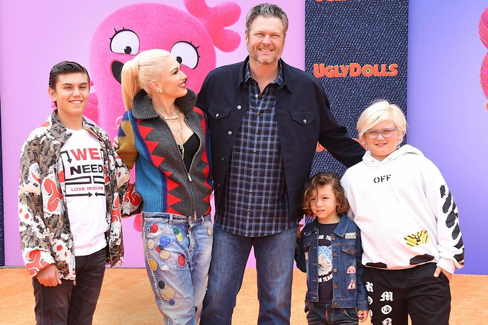 """<p><a href=""""https://people.com/tag/gwen-stefani/"""" rel=""""nofollow noopener"""" target=""""_blank"""" data-ylk=""""slk:Gwen Stefani"""" class=""""link rapid-noclick-resp"""">Gwen Stefani </a>loves being a boy mom! </p> <p>She's a <a href=""""https://people.com/babies/gwen-stefani-celebrates-sons-nieces-first-communion/"""" rel=""""nofollow noopener"""" target=""""_blank"""" data-ylk=""""slk:mother to three boys"""" class=""""link rapid-noclick-resp"""">mother to three boys</a> (with ex-husband <a href=""""https://people.com/tag/gavin-rossdale/"""" rel=""""nofollow noopener"""" target=""""_blank"""" data-ylk=""""slk:Gavin Rossdale"""" class=""""link rapid-noclick-resp"""">Gavin Rossdale</a>) — Apollo Bowie Flynn, 7, Zuma Nesta Rock,12, and <a href=""""https://people.com/babies/gwen-stefani-kingston-looks-like-dad/"""" rel=""""nofollow noopener"""" target=""""_blank"""" data-ylk=""""slk:Kingston James McGregor"""" class=""""link rapid-noclick-resp"""">Kingston James McGregor</a>, 14. The """"Sweet Escape"""" singer<a href=""""https://people.com/parents/gwen-stefani-sons-surprised-herself-as-mom-new-doll/"""" rel=""""nofollow noopener"""" target=""""_blank"""" data-ylk=""""slk:told PEOPLE in 2017"""" class=""""link rapid-noclick-resp""""> told PEOPLE in 2017</a> that her parenting style turned out to be different than she imagined. </p> <p>""""I was in a band and free my whole life, so I always thought I would be really free with [my kids] and do whatever I wanted, like, 'Oh, I'll take them out of school,' """" said the <a href=""""https://people.com/style/adam-levine-gwen-stefani-no-doubt-tshirt-the-voice/"""" rel=""""nofollow noopener"""" target=""""_blank"""" data-ylk=""""slk:former No Doubt rocker"""" class=""""link rapid-noclick-resp"""">former No Doubt rocker</a>. """"But you learn that when they have boundaries is when they feel the safest.""""</p> <p>She added, """"What I learned about having kids and having a career is [it's] not all about us,"""" she says. """"You realize that they only want you to care about them. It's just that automatic, like, 'You're my mom!' """"</p>"""