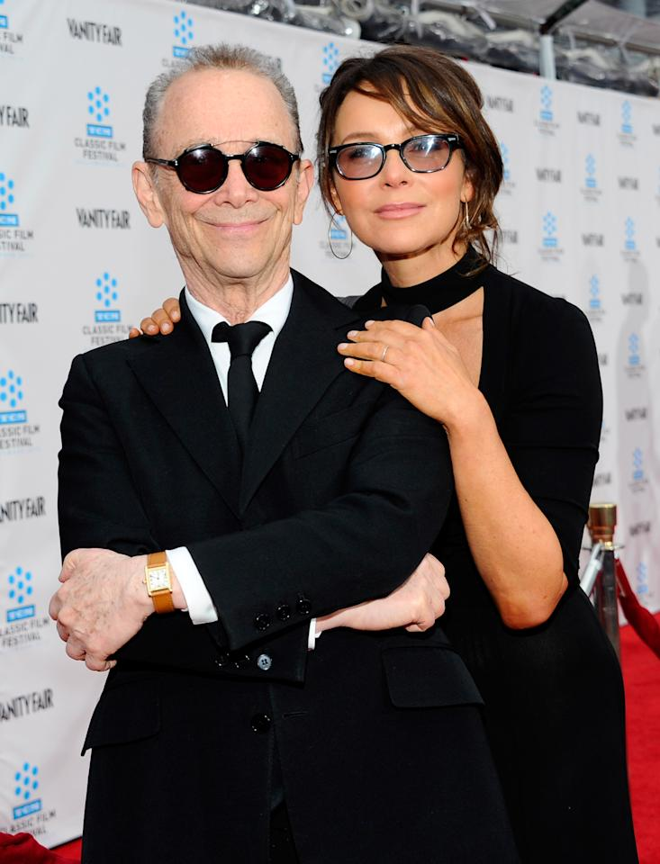 "HOLLYWOOD, CA - APRIL 12:  Actors Joel Grey (L) and Jennifer Grey arrive at the TCM Classic Film Festival opening night premiere of the 40th anniversary restoration of ""Cabaret"" at Grauman's Chinese Theatre on April 12, 2012 in Hollywood, California.  (Photo by Alberto E. Rodriguez/Getty Images)"
