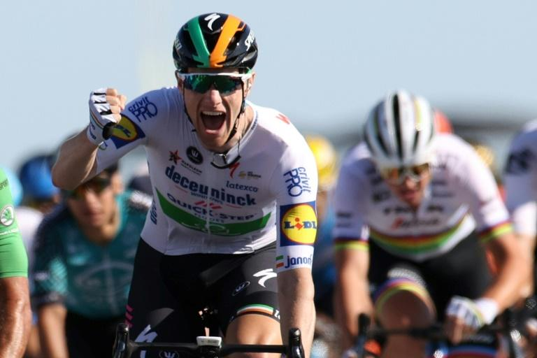 Ireland's Sam Bennett in the green after maiden Tour de France win
