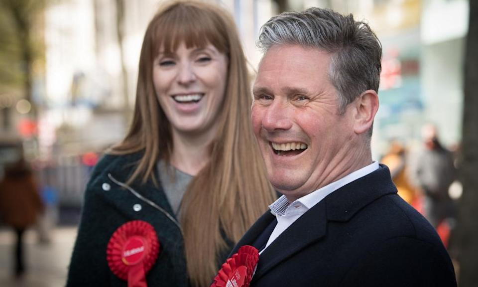 Rayner and Starmer campaigning in May.