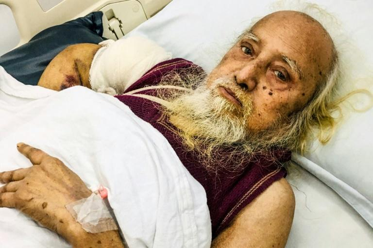 Former businessman Habibur Rahman in a hospital bed in Sylhet, Bangladesh. The septuagenarian has reunited with his family following a 48-year absence after a video was posted on Facebook