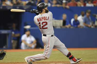 Mike Napoli hits upper deck with his longest homer of the year