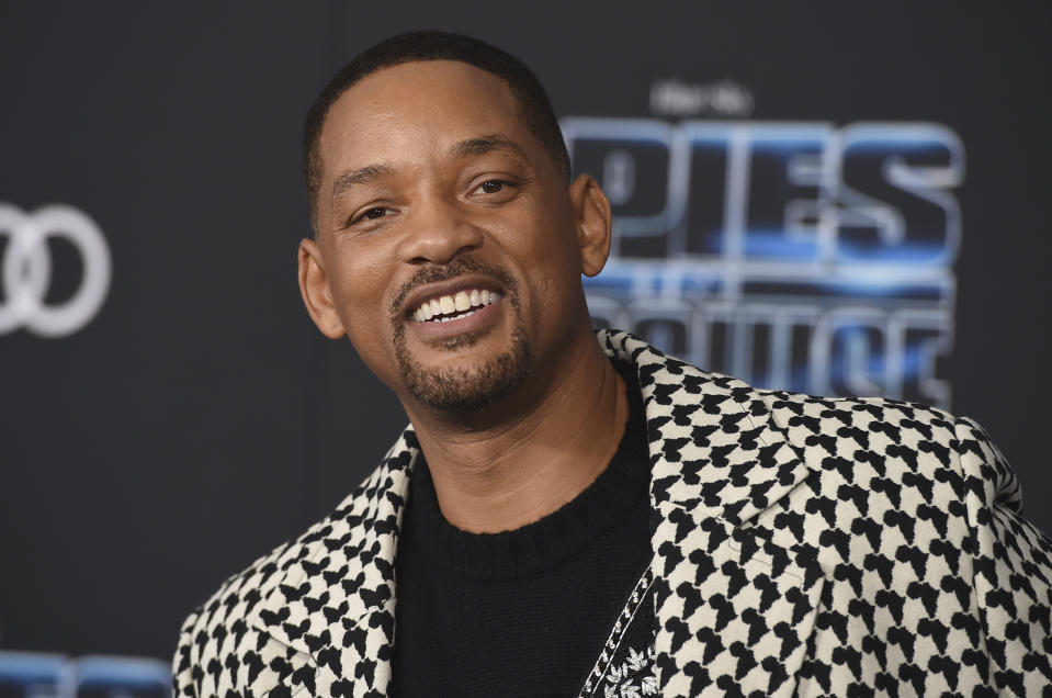 """Will Smith arrives at the world premiere of """"Spies in Disguise"""" at the El Capitan Theatre on Wednesday, Dec. 4, 2019, in Los Angeles. (Photo by Jordan Strauss/Invision/AP)"""