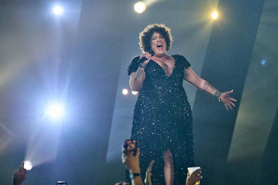 Indigenous artist Casey Donovan performed at Eurovision - Australia Decides on Friday February 7 on the Gold Coast.  (Photo: SBS )