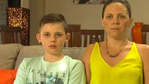 Jaclyn Cross and her son Trae told Sunrise that the chairs should have been recalled months ago when a similar incident happened. Photo: Sunrise