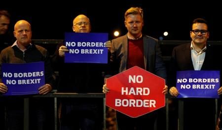 Candlelit vigil on the border between Ireland and Northern Ireland